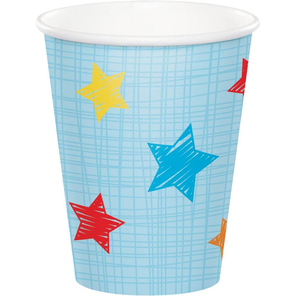 One Is Fun Boy, Paper Cup 9oz 8ct