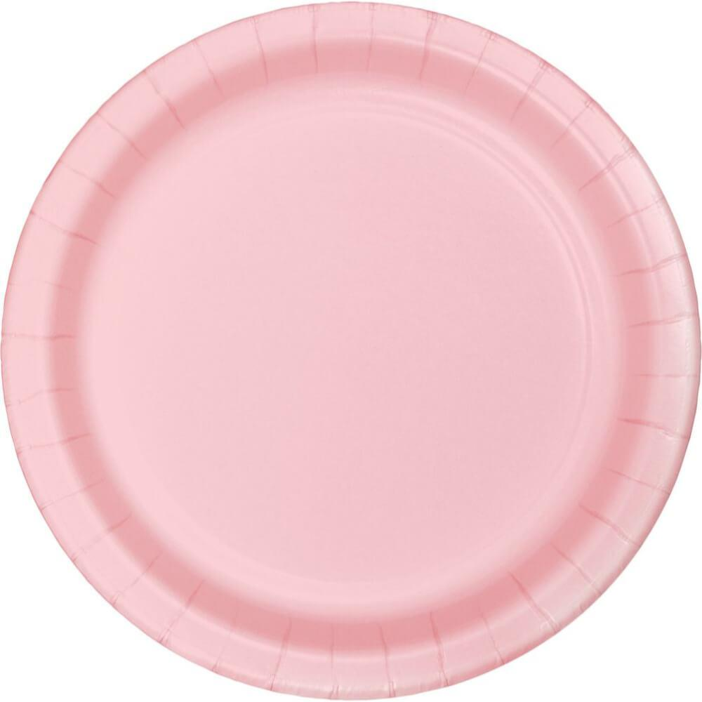 Dinner Plate 10in 24ct, Classic Pink