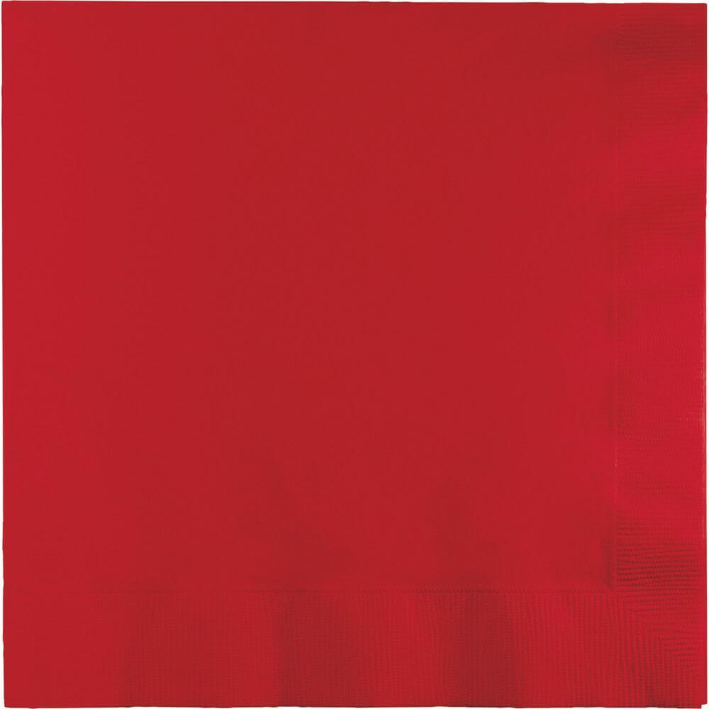 Classic Red Dinner Napkin 25ct 3ply,