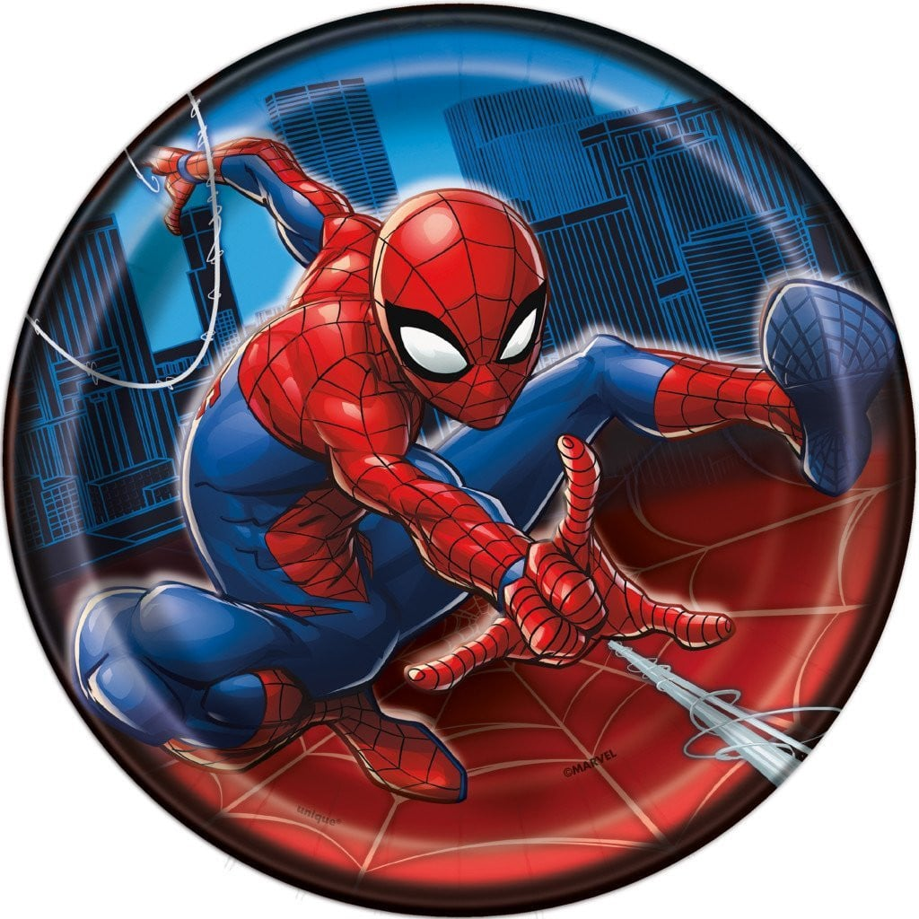 Spiderman 7in Plates, 8ct