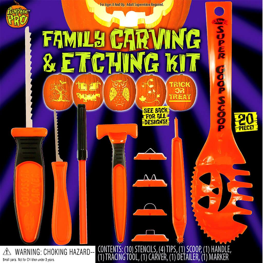 Family Carving & Etching Kit 20pc