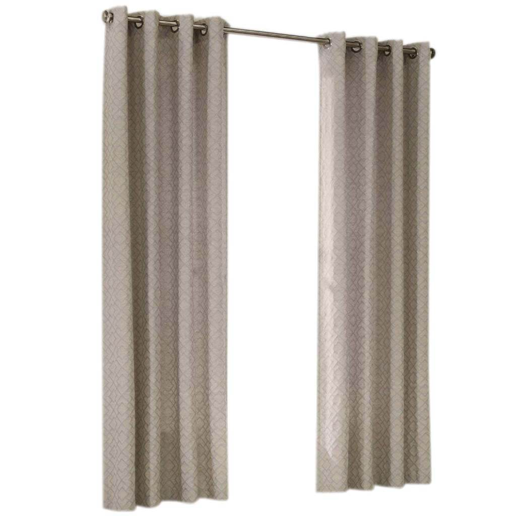 Damascus Grommet Panel Curtains Gray