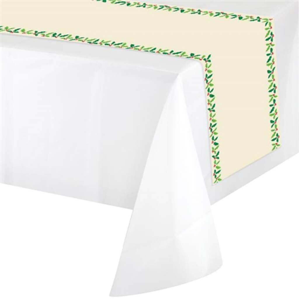 Holiday Holly Non Woven Table Runner 14X84