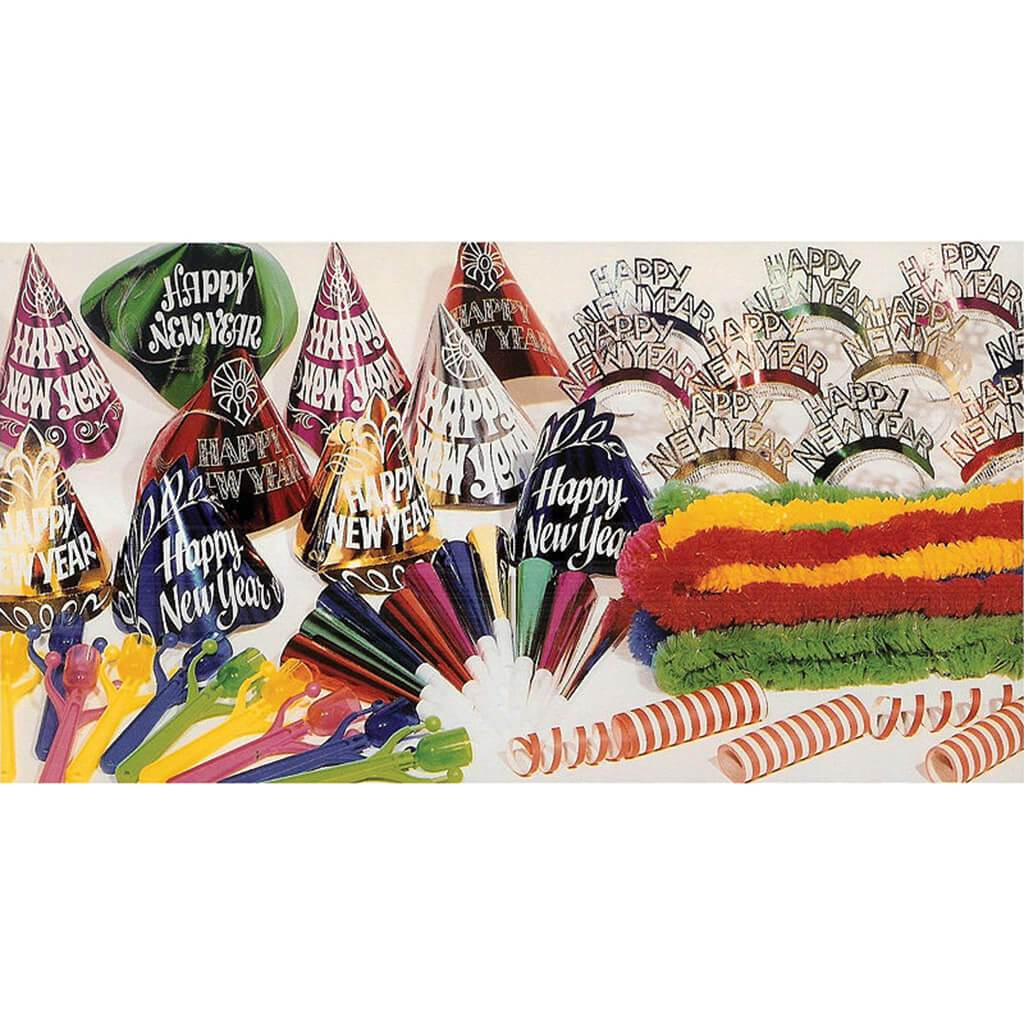 New Years Eve Multicolor Party Kit for 20