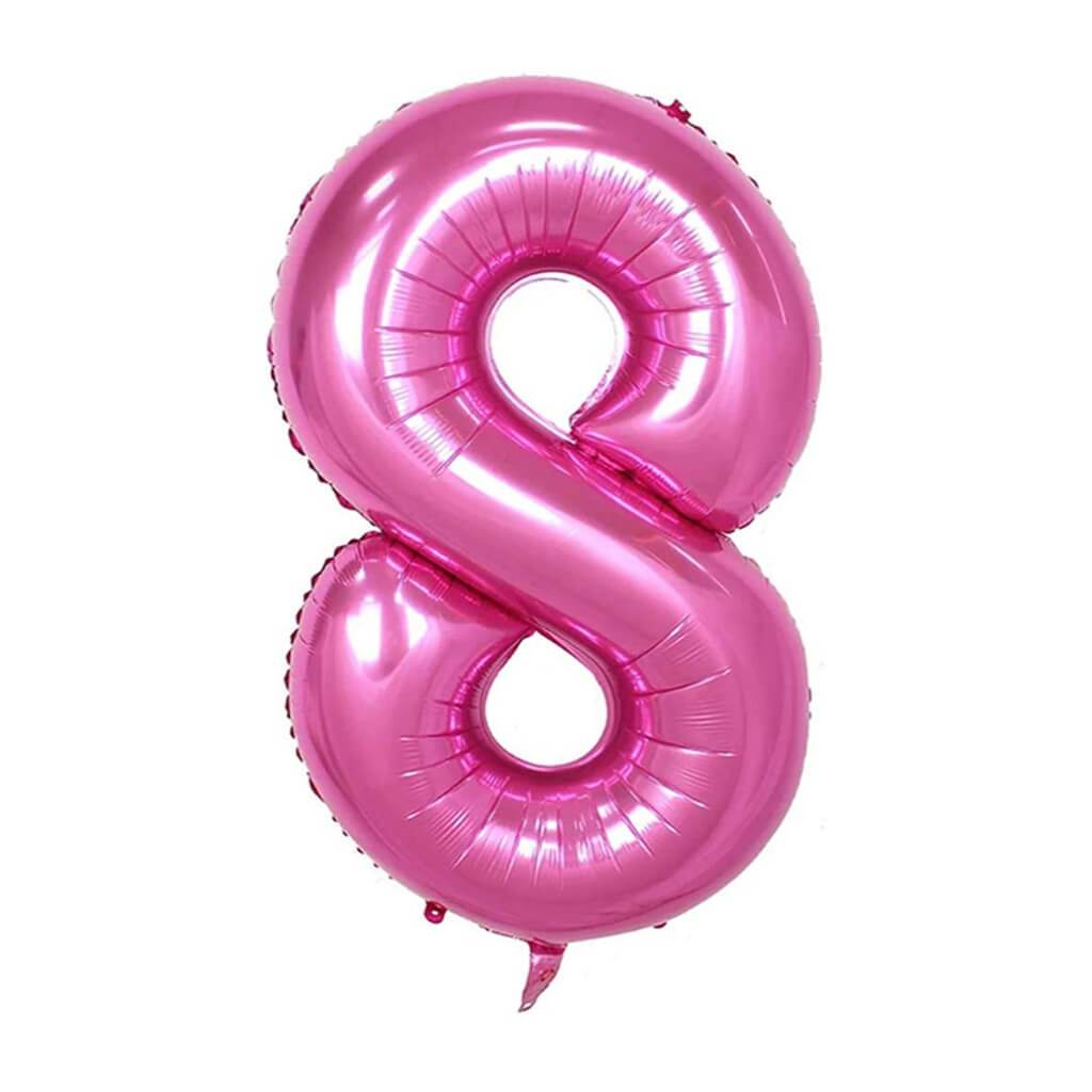 Giant Pink Foil Number 8 Balloon 34in