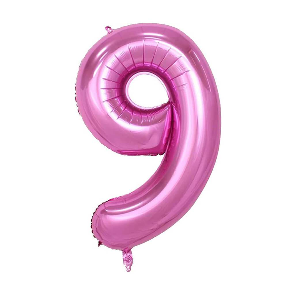 Giant Pink Foil Number 9 Balloon 34in