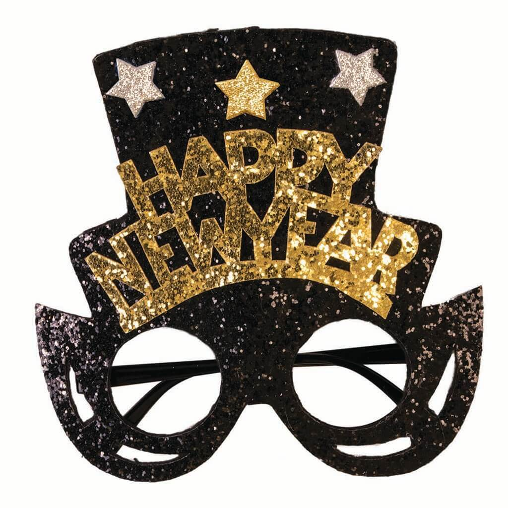 Happy New Glasses with Top Hat