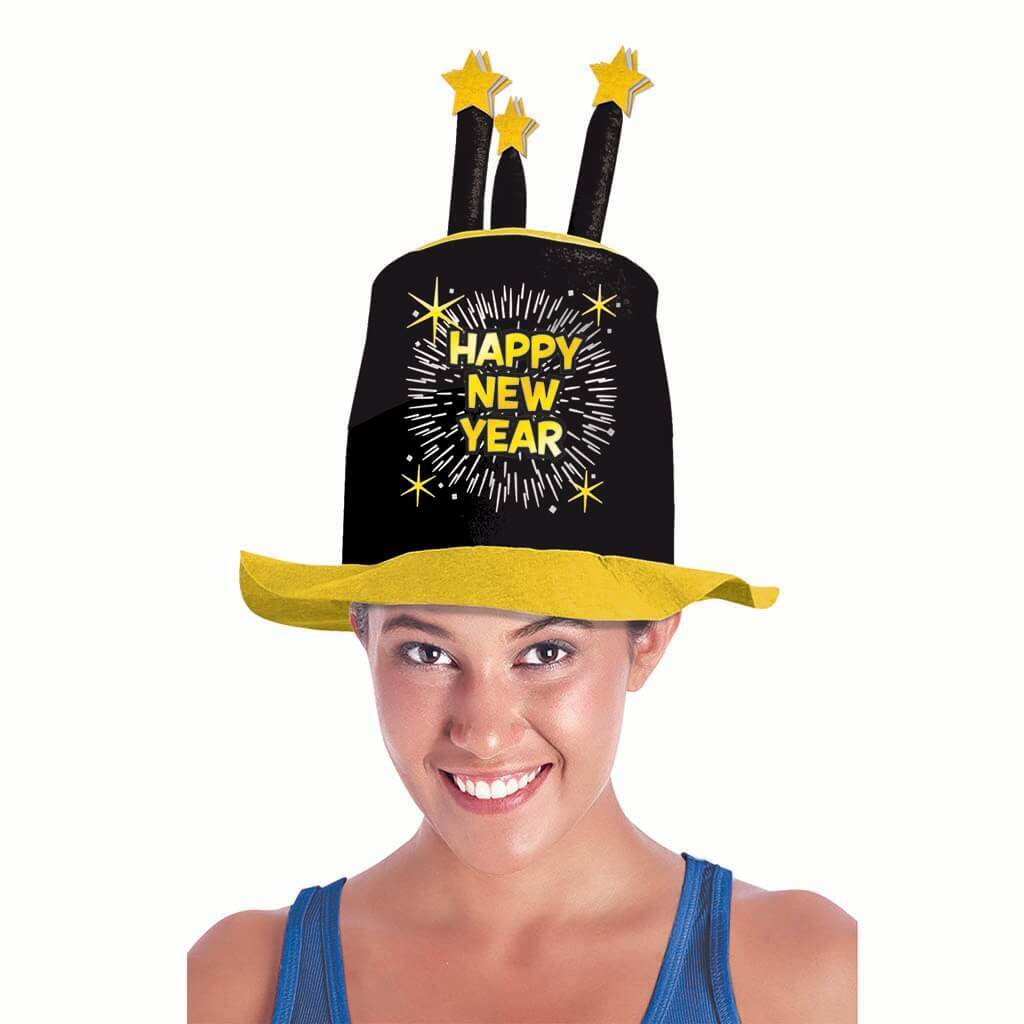 Happy New Year Hat with Candles