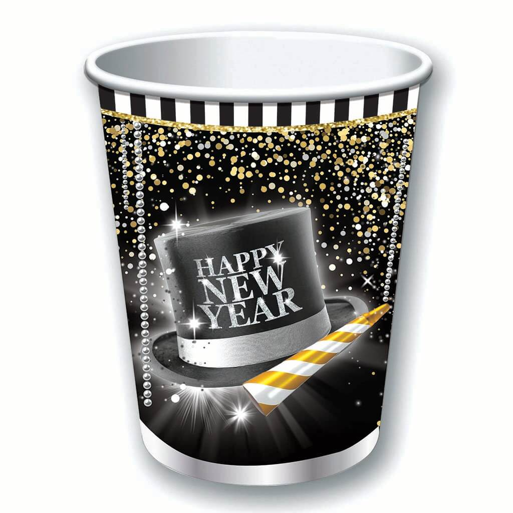 Happy New Year's Cups 9oz