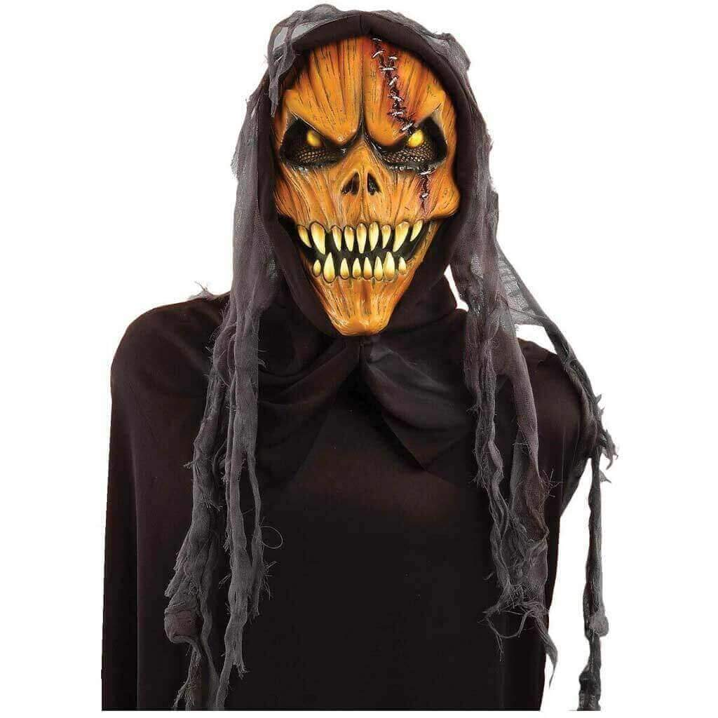 Pumpkin Monster Hooded Mask