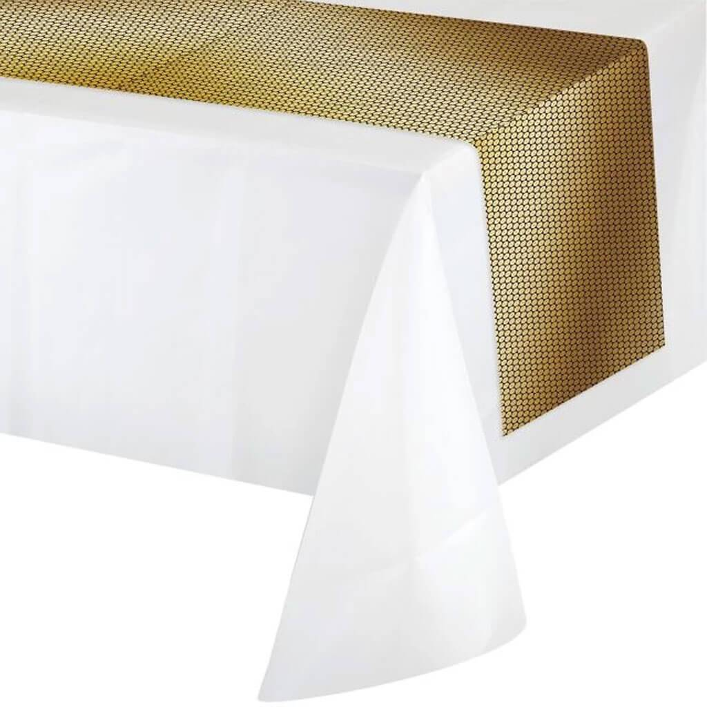 Gold Sequin Table Runner 14x84in