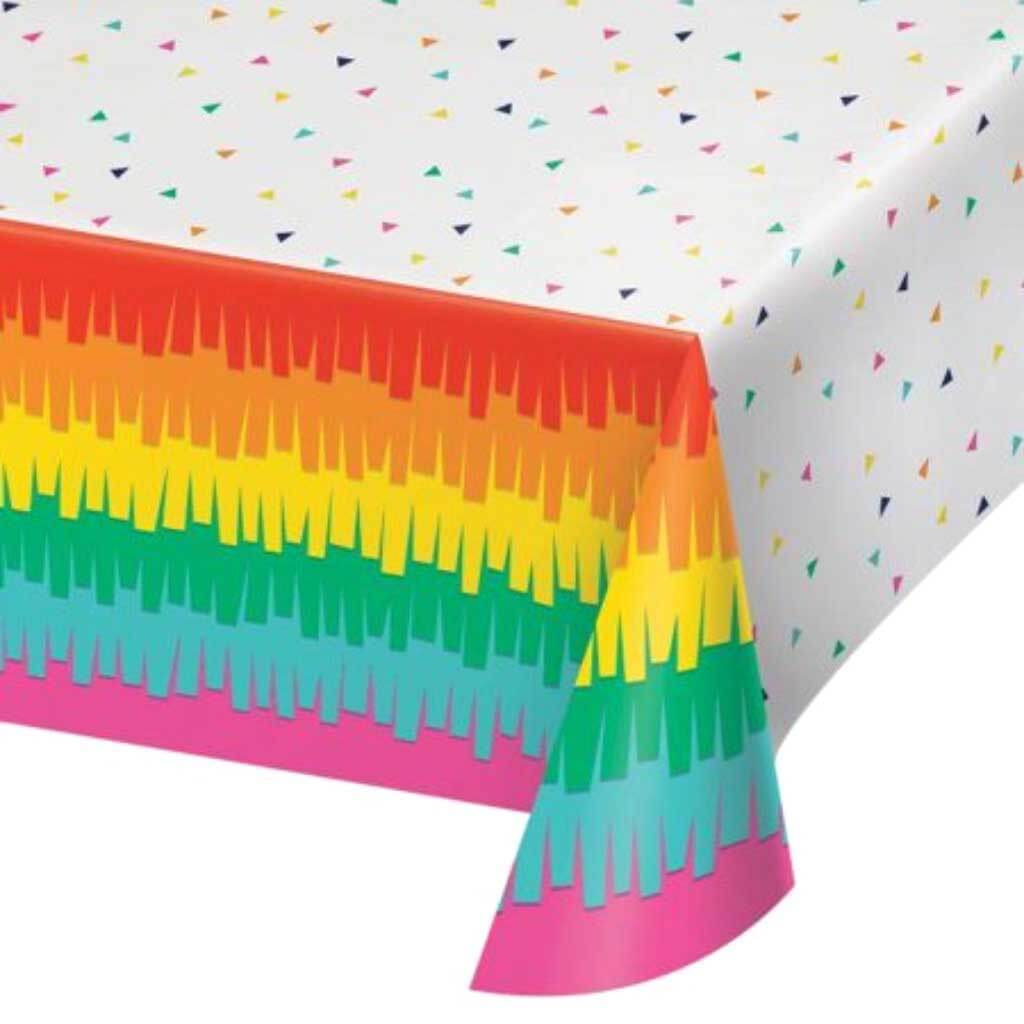 Fiesta Fun Plastic Plastic Tablecover 54inx102in