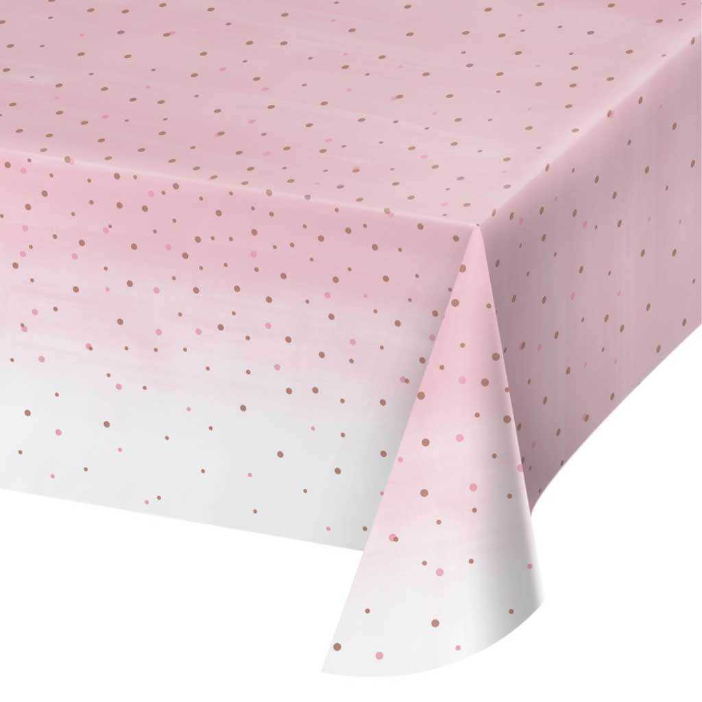 Rosé All Day Plastic Plastic Tablecover 54inx102in