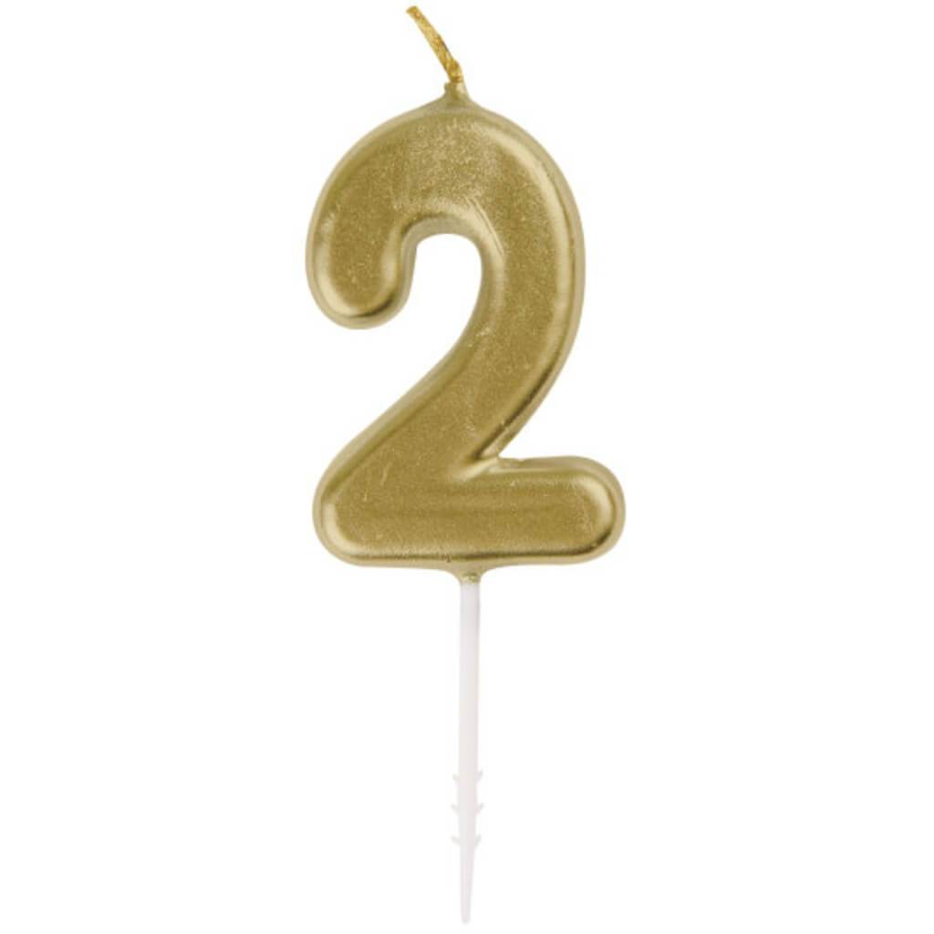 Mini Gold Pick Birthday Candle #2
