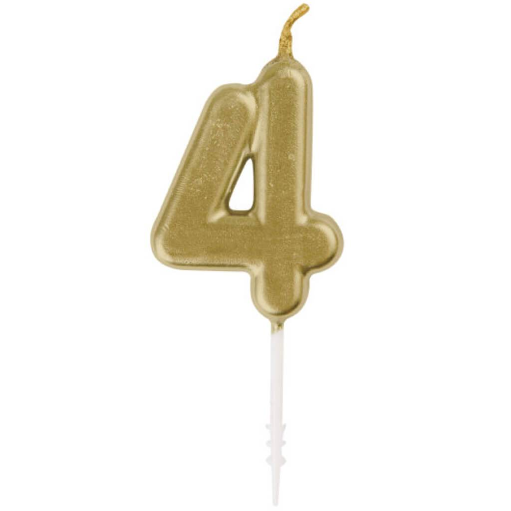 Mini Gold Pick Birthday Candle #4