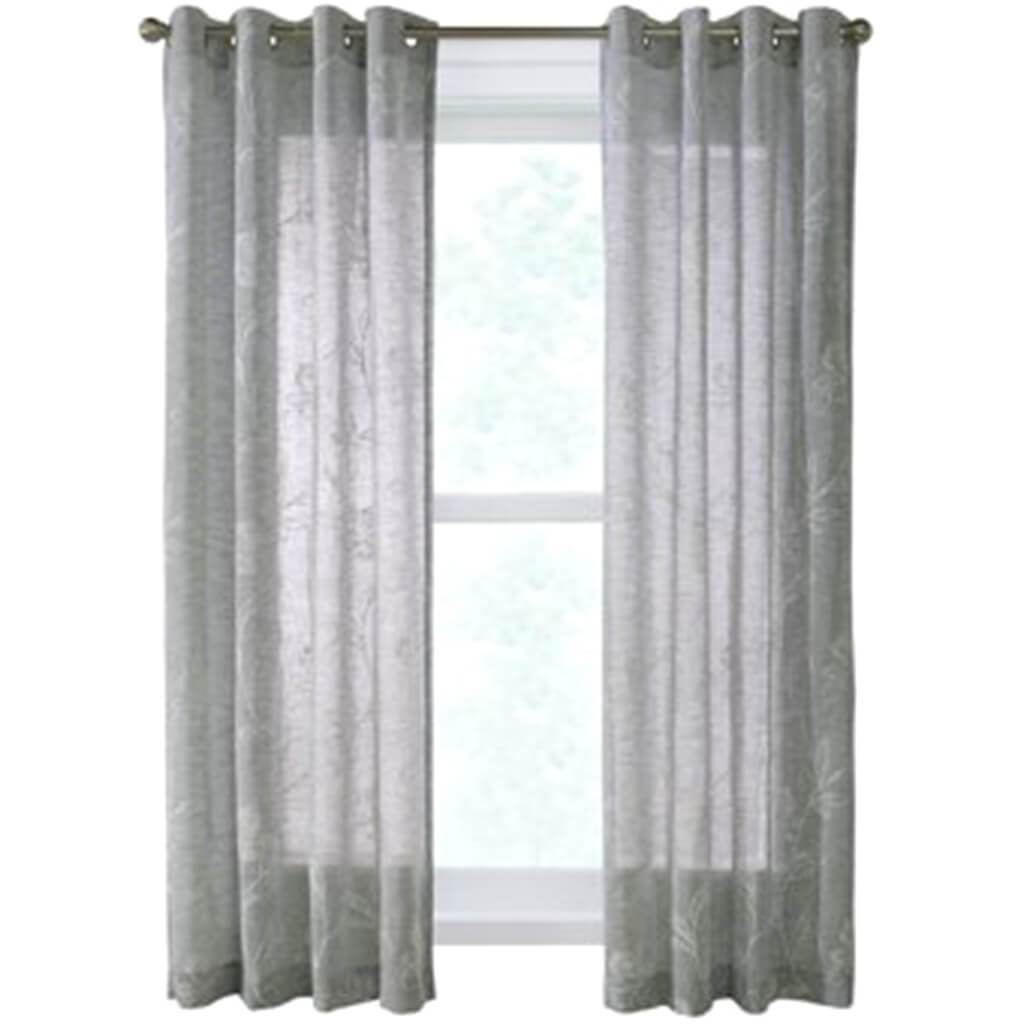 Anemone Grommet Top Panel Curtains Silver
