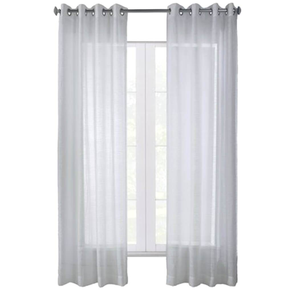 Daphine Gromment Top Panel Curtains White