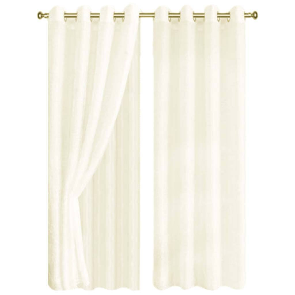 Foliage Grommet Top Panel Curtains White