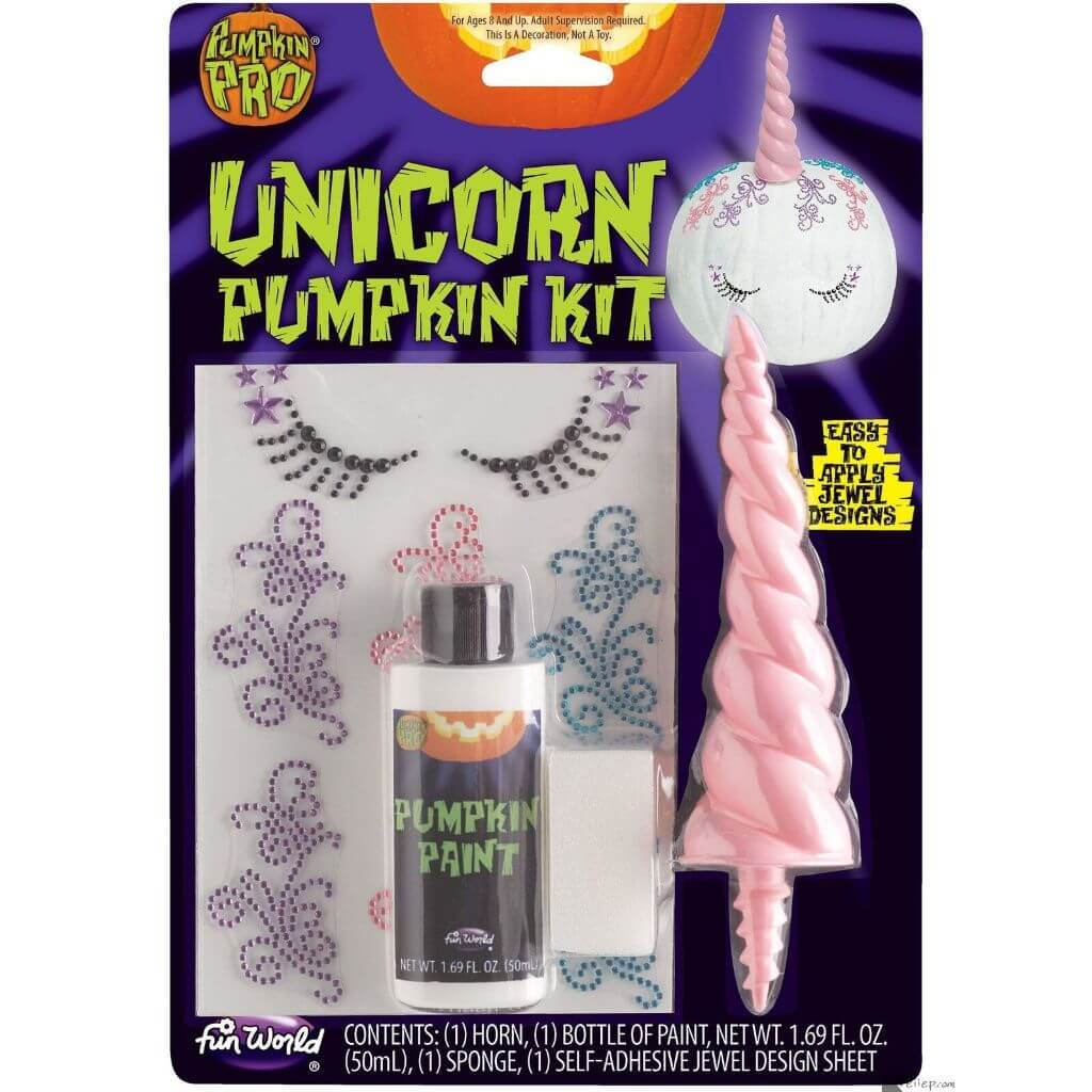 3D Unicorn Pumpkin Decor Kit