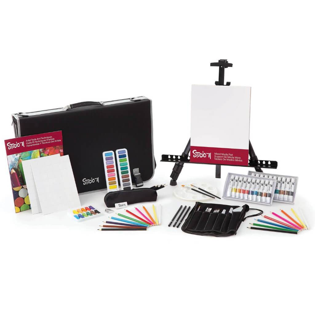 Studio 71 All Media Art Set With Easel: 101 Pieces