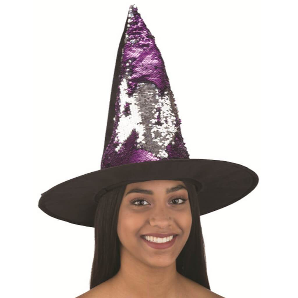 Flip Sequin Witch Hat