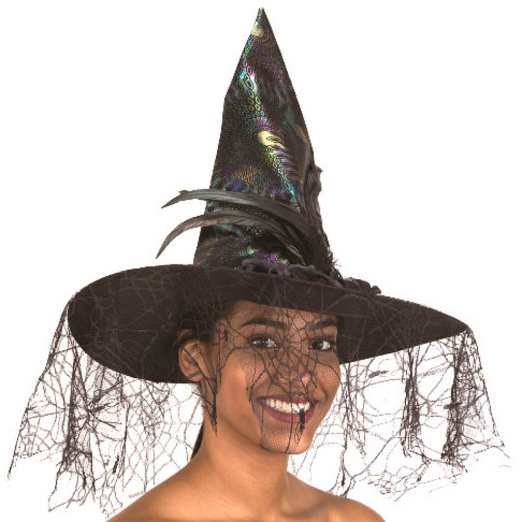 Iridescent Witch Hat W/ Black