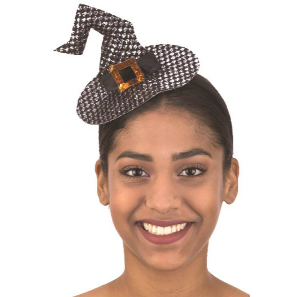 Mini Witch Hat W/ Buckle Headpiece