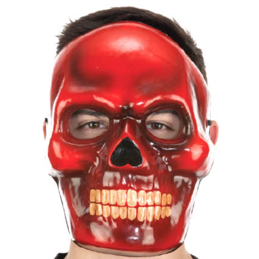Full Face Red Devil Mask