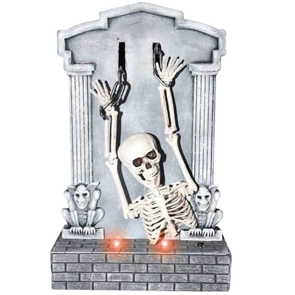 Shaking Skeleton On Tombstone
