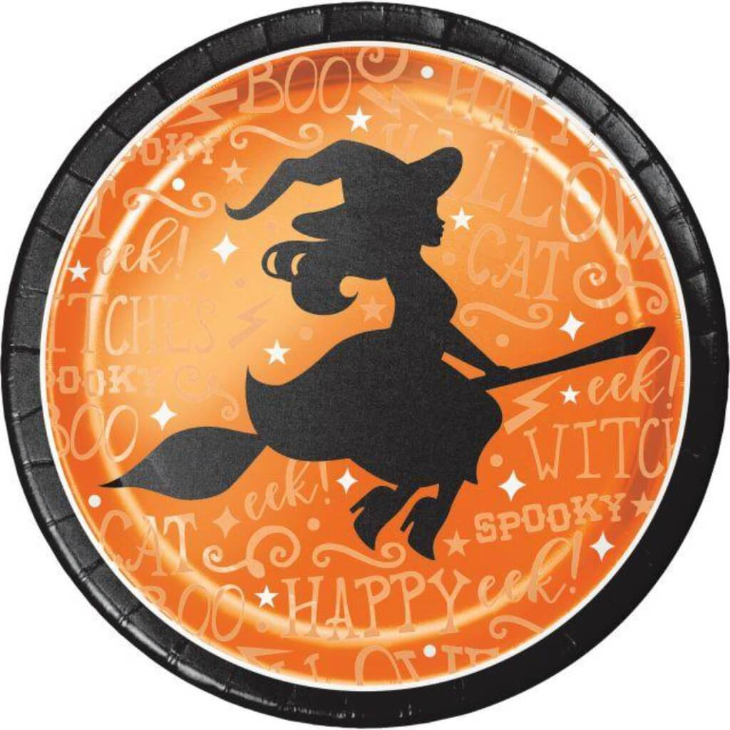 Wicked Witch Paper Dinner Plates 9in 8ct