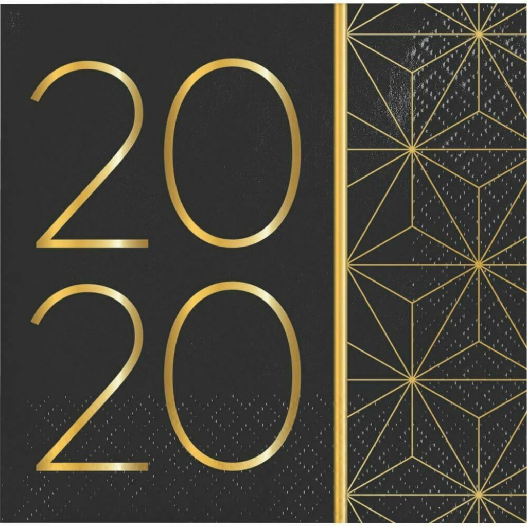 2020 New Year Beverage Napkin 2Ply 16ct