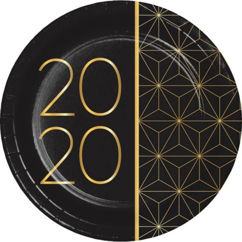 2020 New Year Plate 7in 8ct