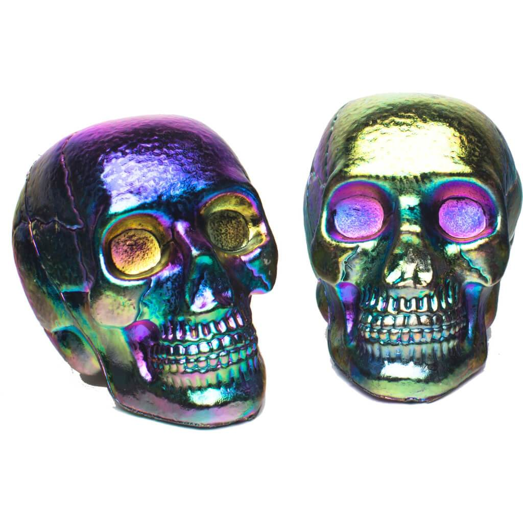 Oil Slick Mini Skulls in Mesh Bag