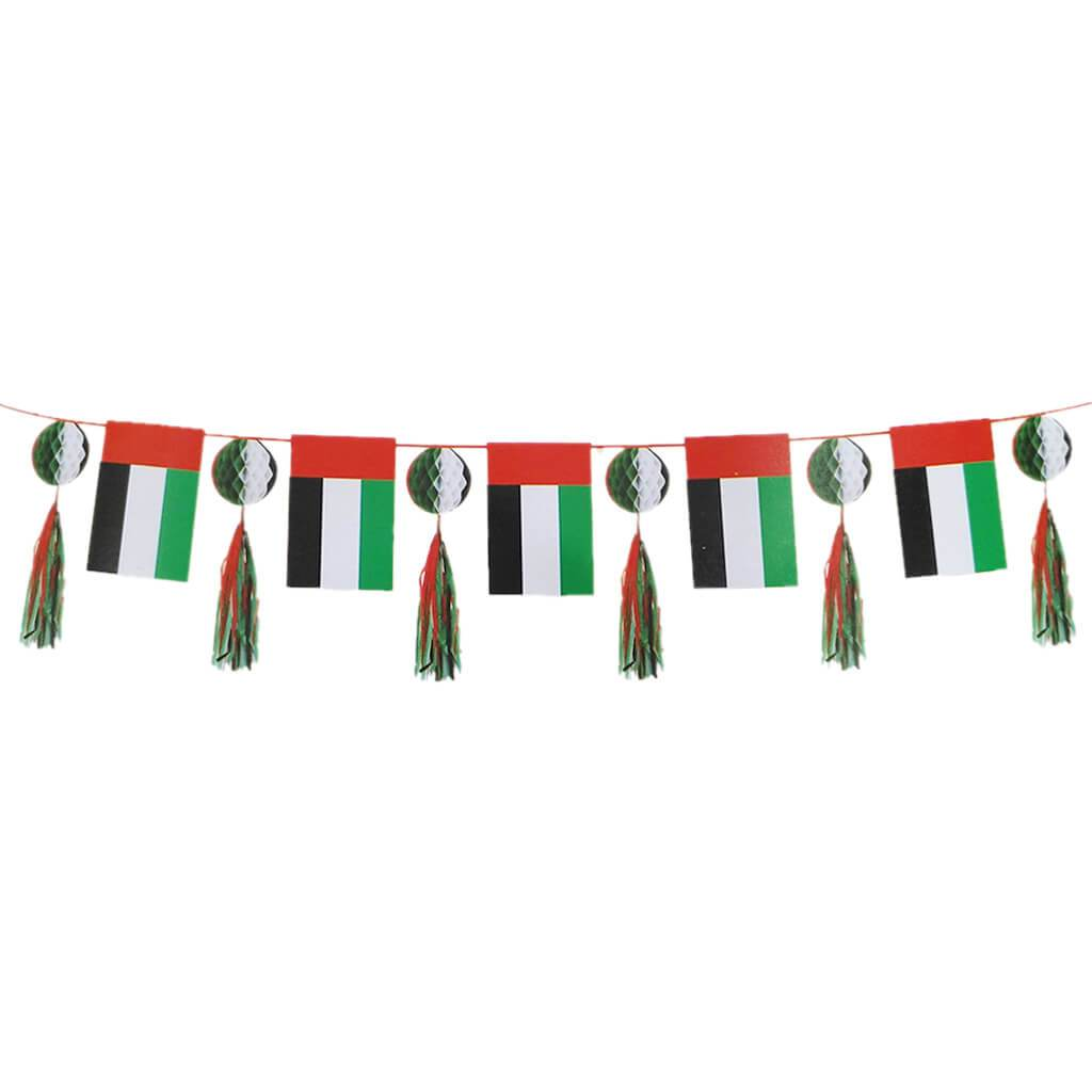 UAE Paper Garland Flag and Balls