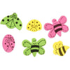 Foamies?® Stickers Ladybugs and Bees Pink, Green, Yellow 86 pieces