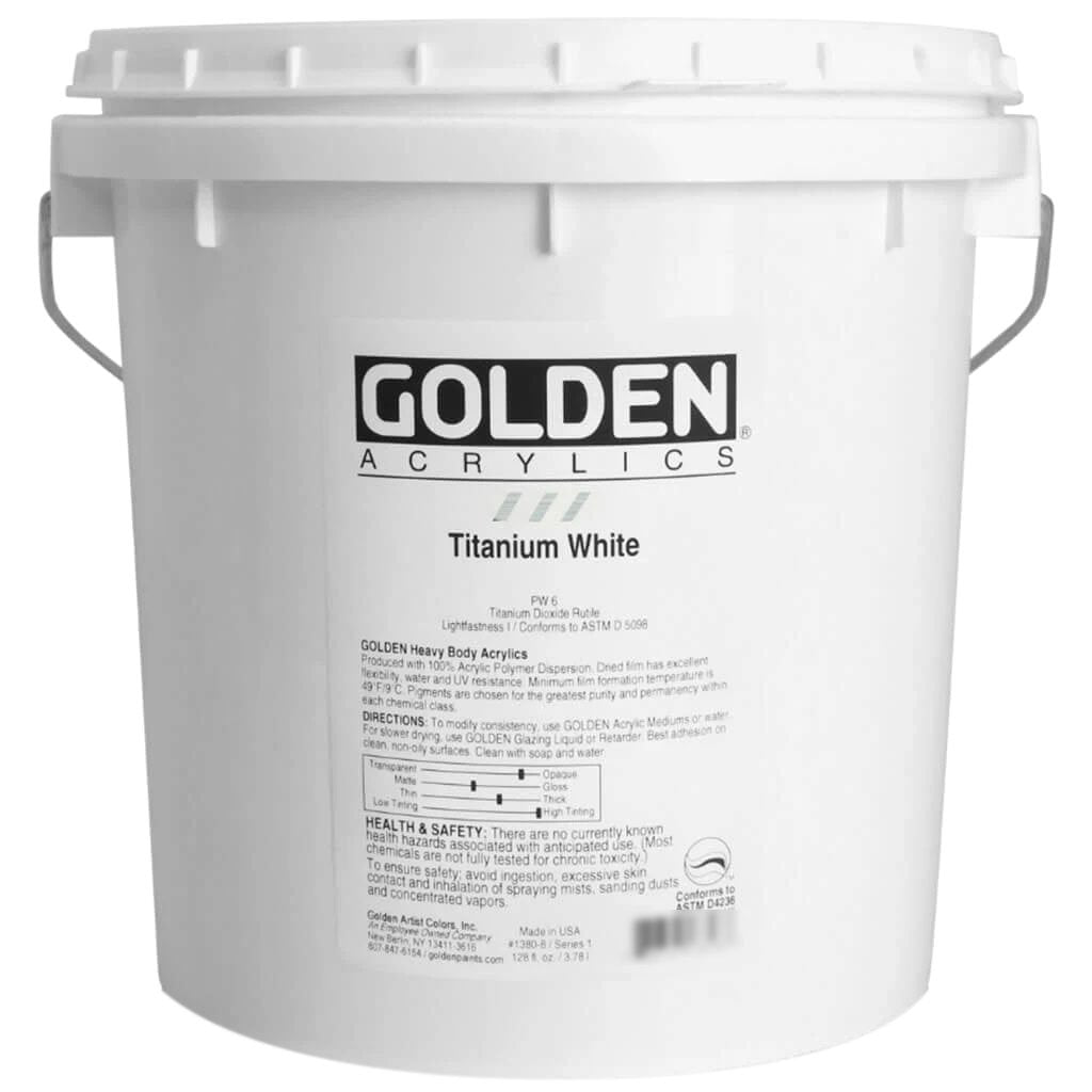 Golden Heavy Body Acrylic Paint Series 1 Titanium White 128oz