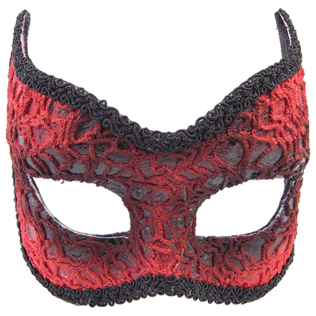 Red Lace Devil Mask