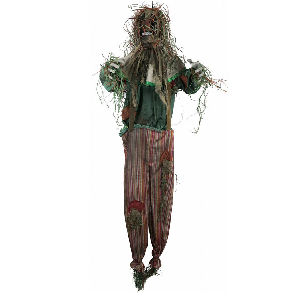 Scarecrow Clown Animated Hanging Prop