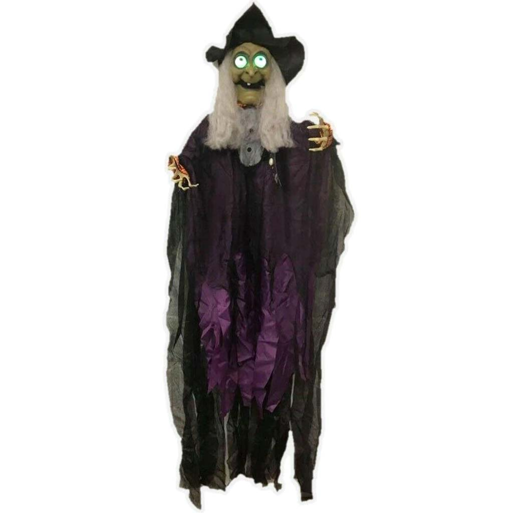 Talking Witch Light Up Hanging Prop