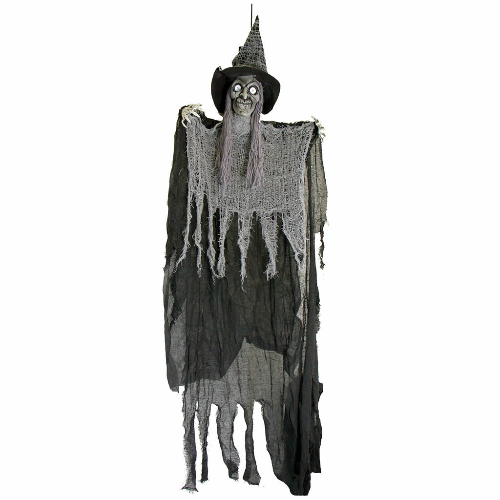 62in Hanging Creepy Grey Witch Old Hag