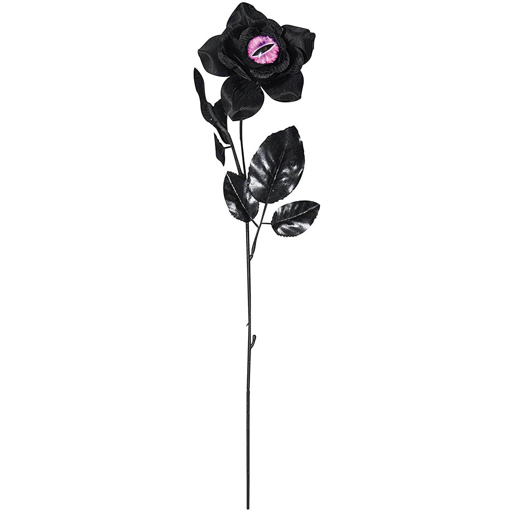 Black Rose With Cat Eye  17in Pink