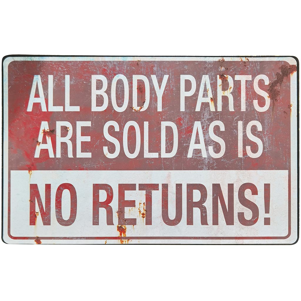 Metal Sign Parking All Body Parts Are Sold As Is No Return