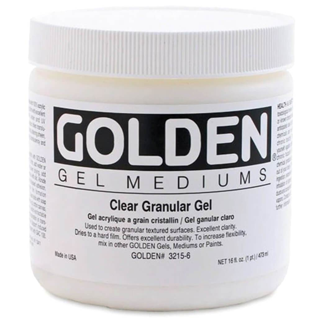 Acrylic Gel Medium Clear Granular 8oz