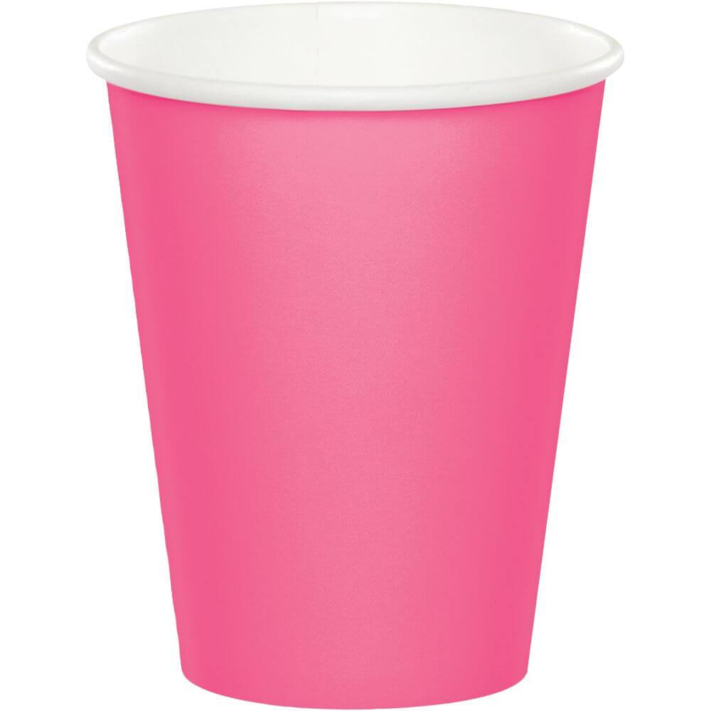 Paper Cups 24ct 9oz, Candy Pink