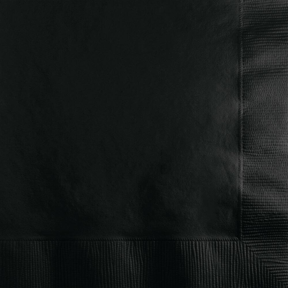 Black Velvet 3Ply Beverage Napkins 50ct