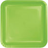 Fresh Lime Paper Square Plates 7in 18ct
