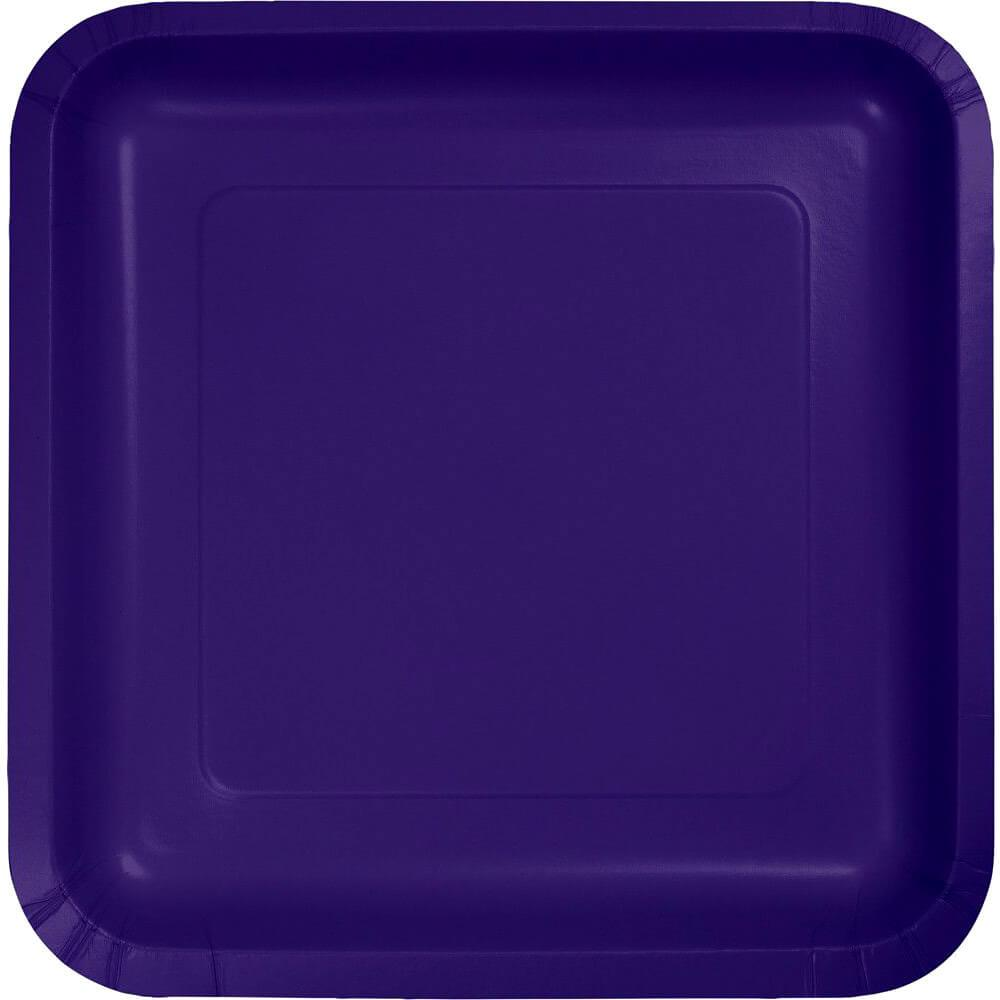 Paper Dinner Plates 9in 18ct, Purple