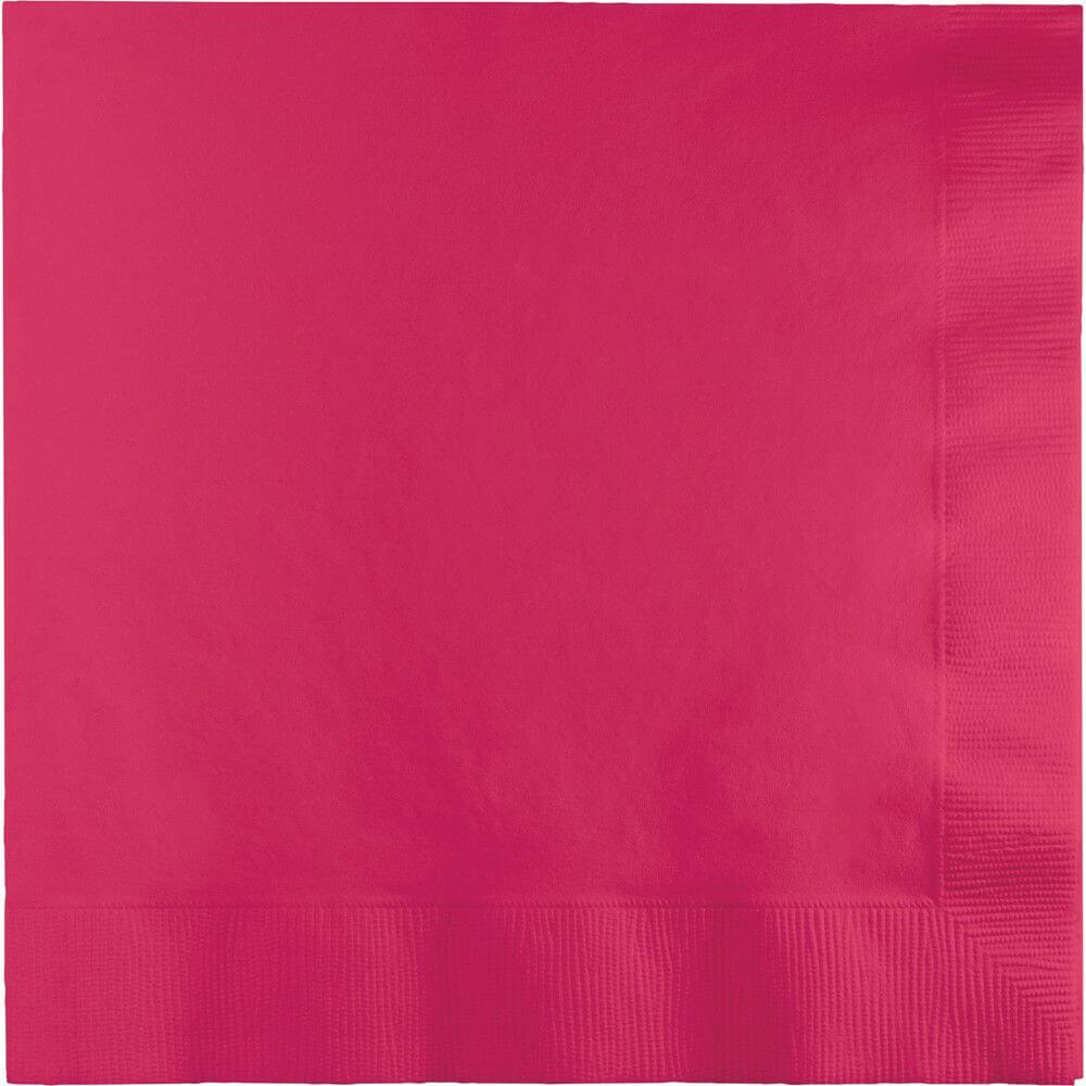Luncheon Napkins 50ct 3ply, Hot Magenta