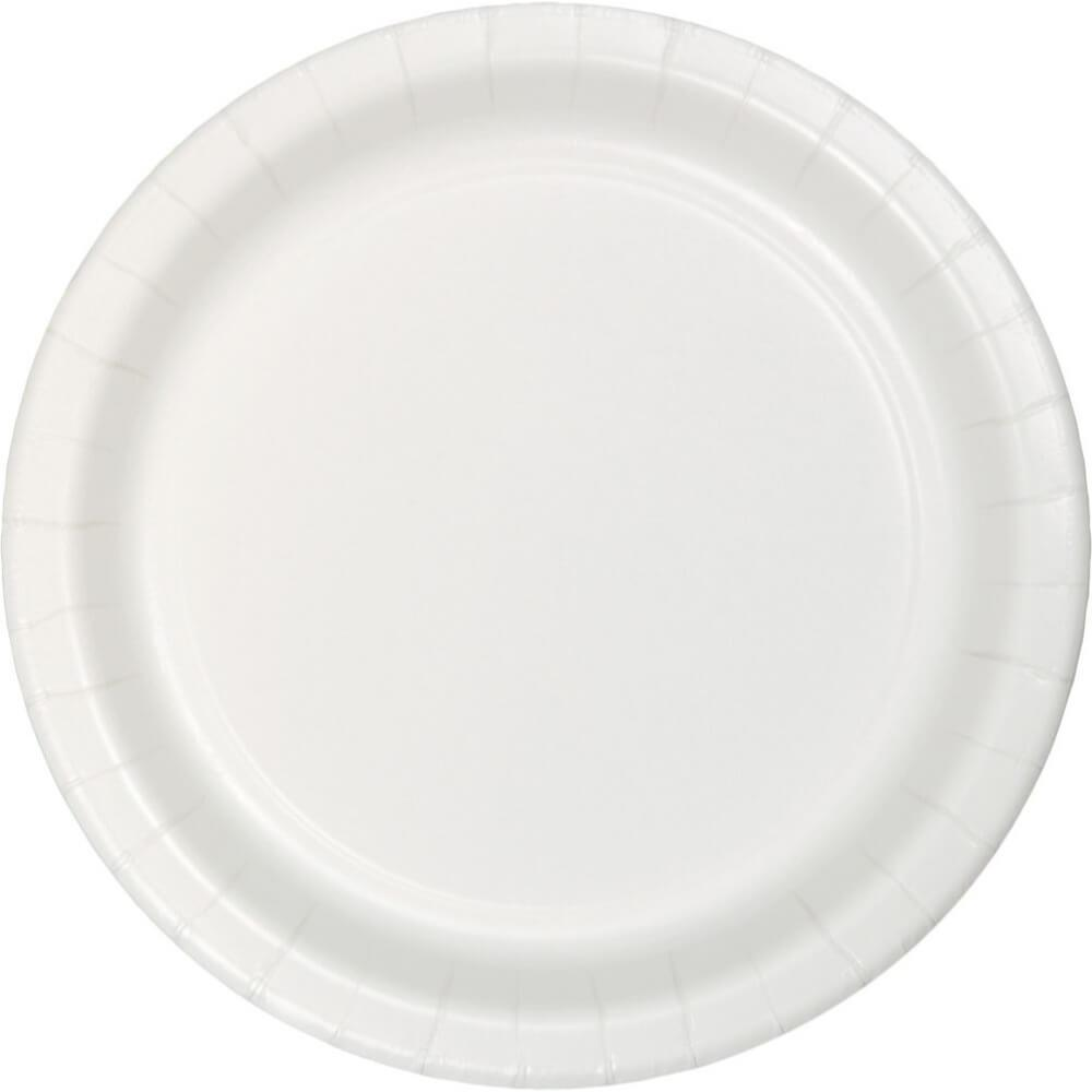 White Paper Lunch Plates 7in 75ct