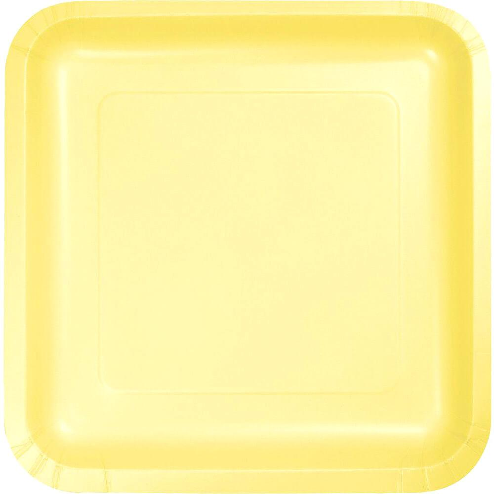 Paper Dinner Plates 9in 18ct, Mimosa